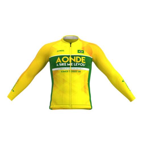Camisa de Ciclismo Brasil Pro Ride